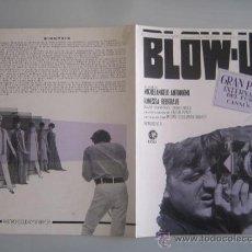 Cine: BLOW UP MICHELANGELO ANTONIONI - GUIA PUBLICITARIA ORIGINAL ESTRENO NO ENTRA EN LOTES. Lote 33538266