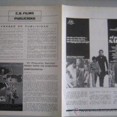 Cine: EL PEQUEÑO SALVAJE - FRANÇOIS TRUFFAUT - GUIA PUBLICITARIA ORIGINAL ESTRENO NESTOR ALMENDROS. Lote 33538345