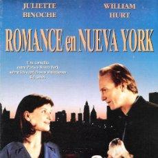 Cine: ROMANCE EN NUEVA YORK GUIA ORIGINAL DOBLE DEL ESTRENO DE LA PELICULA JULIETTE BINOCHE. Lote 33621949
