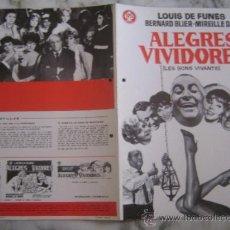 Cine: ALEGRES VIVIDORES LOUIS DE FUNES - GUIA PUBLICITARIA ORIGINAL ESTRENO NO ENTRA EN LOTES. Lote 33748293