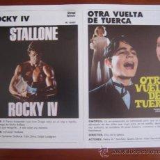 Cinéma: CATALOGO ORIGINAL UIP 1985 86 ROCKY 4 SYLVESTER STALLONE OTRA VUELTA DE TUERCA TOP GUN . Lote 33794269