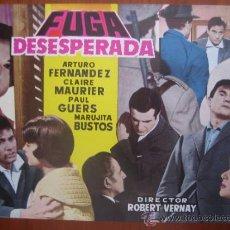 Cine: FUGA DESESPERADA - GUIA PUBLICITARIA ORIGINAL ESTRENO CIRE FILMS. Lote 33795128