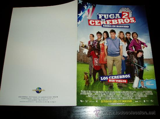 FUGA DE CEREBROS 2. GUIA PUBLICITARIA DOBLE ORIGINAL DE LA PELICULA. (Cine - Guías Publicitarias de Películas )