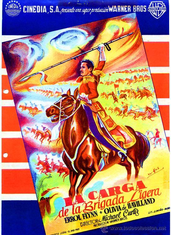 LA CARGA DE LA BRIGADA LIGERA 1936 (GUIA ORIGINAL) ERROL FLYNN - OLIVIA DE HAVILLAND (Cine - Guías Publicitarias de Películas )