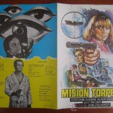 Cine: MISION TORPEDO - GUIA PUBLICITARIA ORIGINAL ESTRENO - STEPHANE AUDRAN KLAUS KINSKI. Lote 34421188