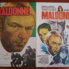 Cine: MALDONNE - GUIA PUBLICITARIA ORIGINAL ESTRENO NO ENTRA EN LOTES. Lote 34421200