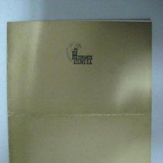 Cine: HISPAMEX FILMS S.A. - LISTA DE MATERIAL - TEMPORADA 1975-1976. Lote 34598825