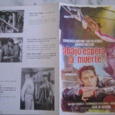Cine: ABAJO ESPERA LA MUERTE CIRCO ESPARTACO SANTONI - GUIA PUBLICITARIA ORIGINAL ESTRENO . Lote 34858316