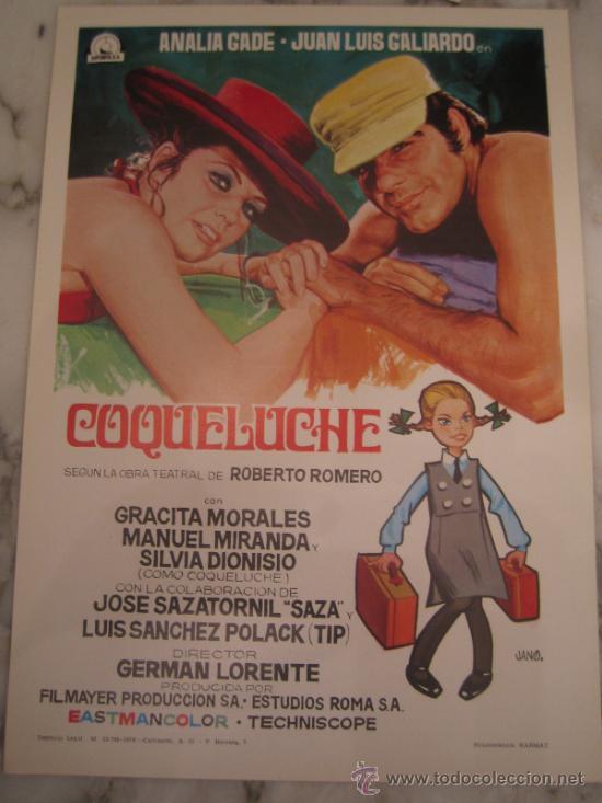 COQUELUCHE ANALIA GADE GRACITA MORALES - GUIA PUBLICITARIA ORIGINAL ESTRENO GERMAN LORENTE (Cine - Guías Publicitarias de Películas )