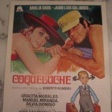 Cine: COQUELUCHE ANALIA GADE GRACITA MORALES - GUIA PUBLICITARIA ORIGINAL ESTRENO GERMAN LORENTE. Lote 34861123