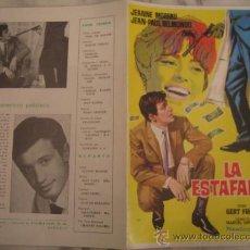 Cine: LA ESTAFADORA JEAN PAUL BELMONDO JEANNE MOREAU - GUIA PUBLICITARIA ORIGINAL ESTRENO. Lote 34861661