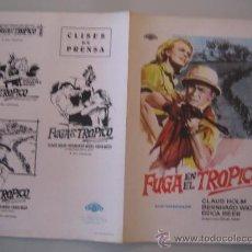 Cine: FUGA EN EL TROPICO MAC CLAUS HOLM - GUIA PUBLICITARIA ORIGINAL ESTRENO. Lote 34879256