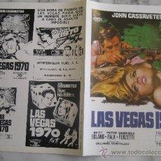 Cine: LAS VEGAS 1979 JOHN CASSAVETES BRITT EKLAND - GUIA PUBLICITARIA ORIGINAL ESTRENO. Lote 34910010