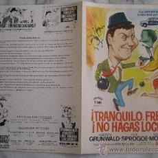Cine: TRANQUILO FREDDY NO HAGAS LOCURAS - GUIA PUBLICITARIA ORIGINAL ESTRENO MORTEN GRUNWALD HANNE BORK. Lote 34911088