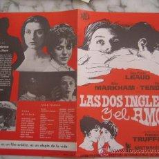 Cine: LAS DOS INGLESAS Y EL AMOR FRANÇOIS TRUFFAUT - GUIA PUBLICITARIA ORIGINAL ESTRENO. Lote 34929259