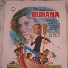 Cine: SUSANA CONCHA VELASCO MARY FRANCIS - GUIA PUBLICITARIA ORIGINAL ESTRENO. Lote 34929645