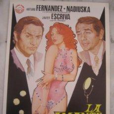Cine: LA AMANTE PERFECTA NADIUSKA HELGA LINE ARTURO FERNANDEZ - GUIA PUBLICITARIA ORIGINAL ESTRENO. Lote 45875819