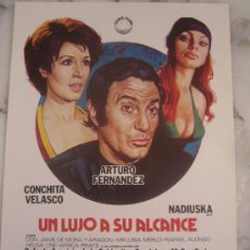 Cine: UN LUJO A SU ALCANCE ARTURO FERNANDEZ CONCHA VELASCO NADIUSKA - GUIA PUBLICITARIA ORIGINAL ESTRENO. Lote 34929695