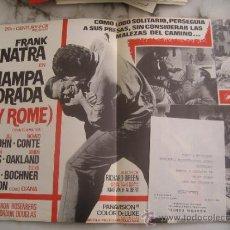 Cine: HAMPA DORADA FRANK SINATRA - GUIA PUBLICITARIA ORIGINAL ESTRENO. Lote 34936190