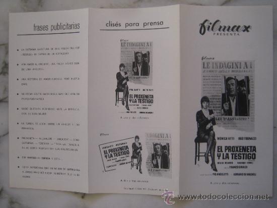 EL PROXENETA Y LA TESTIGO MONICA VITTI - GUIA PUBLICITARIA ORIGINAL ESTRENO (Cine - Guías Publicitarias de Películas )