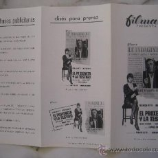 Cine: EL PROXENETA Y LA TESTIGO MONICA VITTI - GUIA PUBLICITARIA ORIGINAL ESTRENO. Lote 34947716