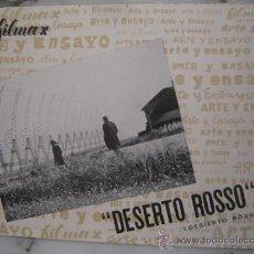 Cine: DESIERTO ROJO MICHELANGELO ANTONIONI MONICA VITTI - GUIA PUBLICITARIA ORIGINAL ESTRENO. Lote 34947849