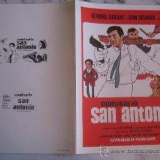 Cine: COMISARIO SAN ANTONIO - GUIA PUBLICITARIA ORIGINAL ESTRENO. Lote 34991482