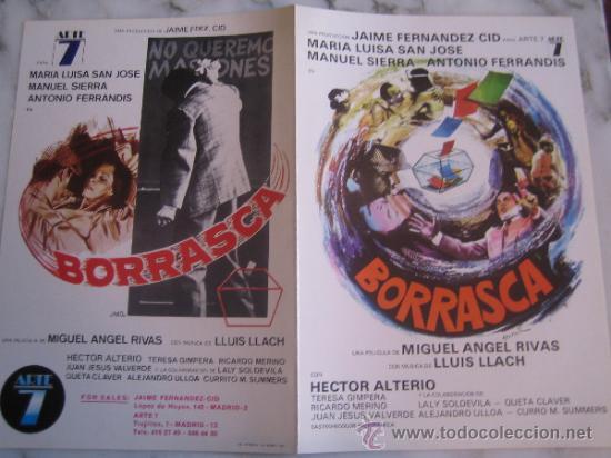 BORRASCA MARIA LUISA SAN JOSE - GUIA PUBLICITARIA ORIGINAL ESTRENO (Cine - Guías Publicitarias de Películas )