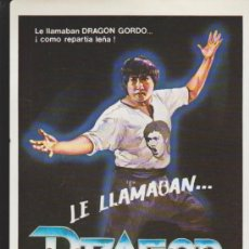 Cine: LE LLAMABAN DRAGÓN GORDO. GUÍA SENCILLA.. Lote 35102679