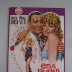 Cine: ESA RUBIA ES MIA ALBERTO SORDI MONICA VITTI - GUIA PUBLICITARIA ORIGINAL ESTRENO. Lote 35169904