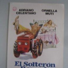 Cine: EL SOLTERON DOMADO ORNELLA MUTI ADRIANO CELENTANO - GUIA PUBLICITARIA ORIGINAL ESTRENO. Lote 35170163