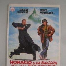 Cine: HORACIO Y EL BAILON DE DON FULGENCIO ADRIANO CELENTANO - GUIA PUBLICITARIA ORIGINAL ESTRENO. Lote 35172299