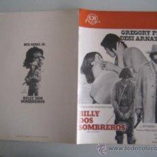 Cine: BILLY DOS SOMBREROS GREGORY PECK WESTERN - GUIA PUBLICITARIA ORIGINAL ESTRENO. Lote 35189075