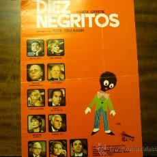 Cine: GUIA DOBLE - DIEZ NEGRITOS - OLIVER REED. Lote 35433716