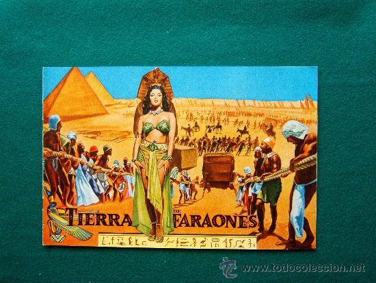TIERRA DE FARAONES - HOWARD HAWCKS - JACK HAWKINS - JOAN COLLINS - ILUSTRADO MCP - 1955 - ESTRENO (Cine - Guías Publicitarias de Películas )