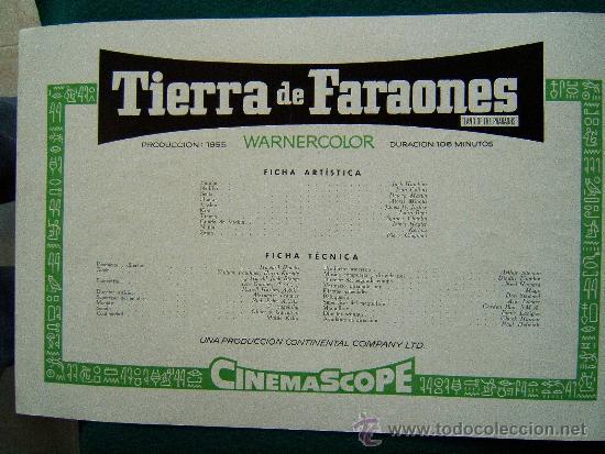 Cine: TIERRA DE FARAONES - HOWARD HAWCKS - JACK HAWKINS - JOAN COLLINS - ILUSTRADO MCP - 1955 - ESTRENO - Foto 2 - 35449521