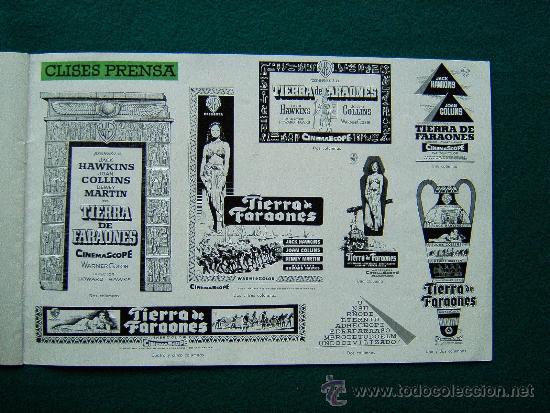 Cine: TIERRA DE FARAONES - HOWARD HAWCKS - JACK HAWKINS - JOAN COLLINS - ILUSTRADO MCP - 1955 - ESTRENO - Foto 8 - 35449521
