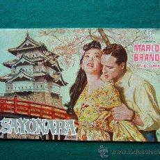 Cine: SAYONARA (ADIOS) - JOSHUA LOGAN - MARLON BRANDO - PATRICIA OWENS - 1957 - ESTRENO. Lote 35449847