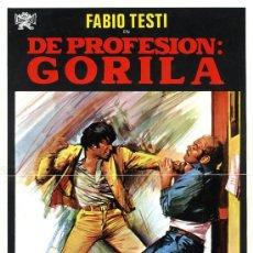 Cine: DE PROFESION GORILA 1975 (GUIA ORIGINAL DOBLE CON FOTOS) FABIO TESTI. Lote 35484892