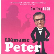 LLAMAME PETER. GUIA ORIGINAL ESTRENO.