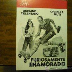Cine: GUIA FURIOSAMENTE ENAMORADO .- ADRIANO CELENTANO- ORNELLA MUTI. Lote 35661756