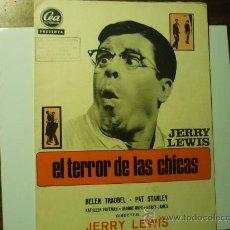 Cine: GUIA EL TERROR DE LAS CHICAS .- J.LEWIS. Lote 35830536