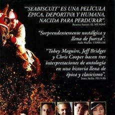 Cine: SEABISCUIT MAS ALLA DE LA LEYENDA (GUIA ORIGINAL 4 PAGINAS CON FOTOS) TOBEY MAGUIRE JEFF BRIDGES. Lote 147574577