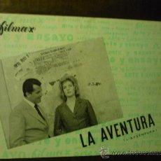 Cine: GUIA DOBLE LA AVENTURA - MONICA VITTI. Lote 36182188