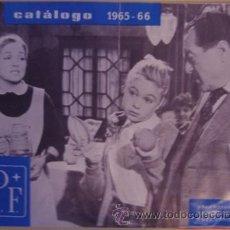 Cine: CATÁLOGO S.P.F, ORGANIZACIÓN CINEMATOGRÁFICA DE LA PSSP 1965 – 1966. Lote 36321526