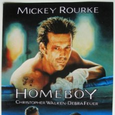 Cine: HOMEBOY - GUIA ORIGINAL - MICKEY ROURKE, CHRISTOPHER WALKEN, DEBRA FEUER. Lote 36468480