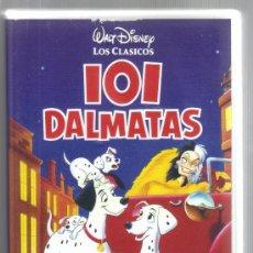 Cinema: CARATULA DE VHS - 101 DALMATAS - WALT DISNEY - LOS CLÁSICOS. Lote 36455004