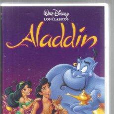 Cinema: CARATULA DE VHS - ALADDIN - WALT DISNEY - LOS CLÁSICOS. Lote 144926658