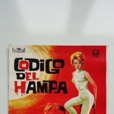 Cine: CODIGO DEL HAMPA, IMPECABLE GUÍA ORIGINAL 10 PÁGINAS, LEE MARVIN ANGIE DICKINSON. Lote 36515074