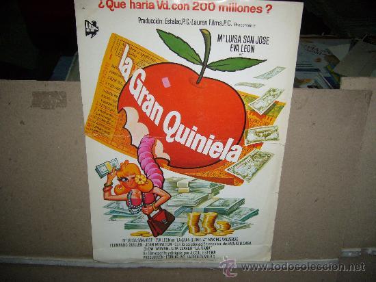 LA GRAN QUINIELA Mª LUISA SAN JOSE GUIA ORIGINAL B2 (Cine - Guías Publicitarias de Películas )